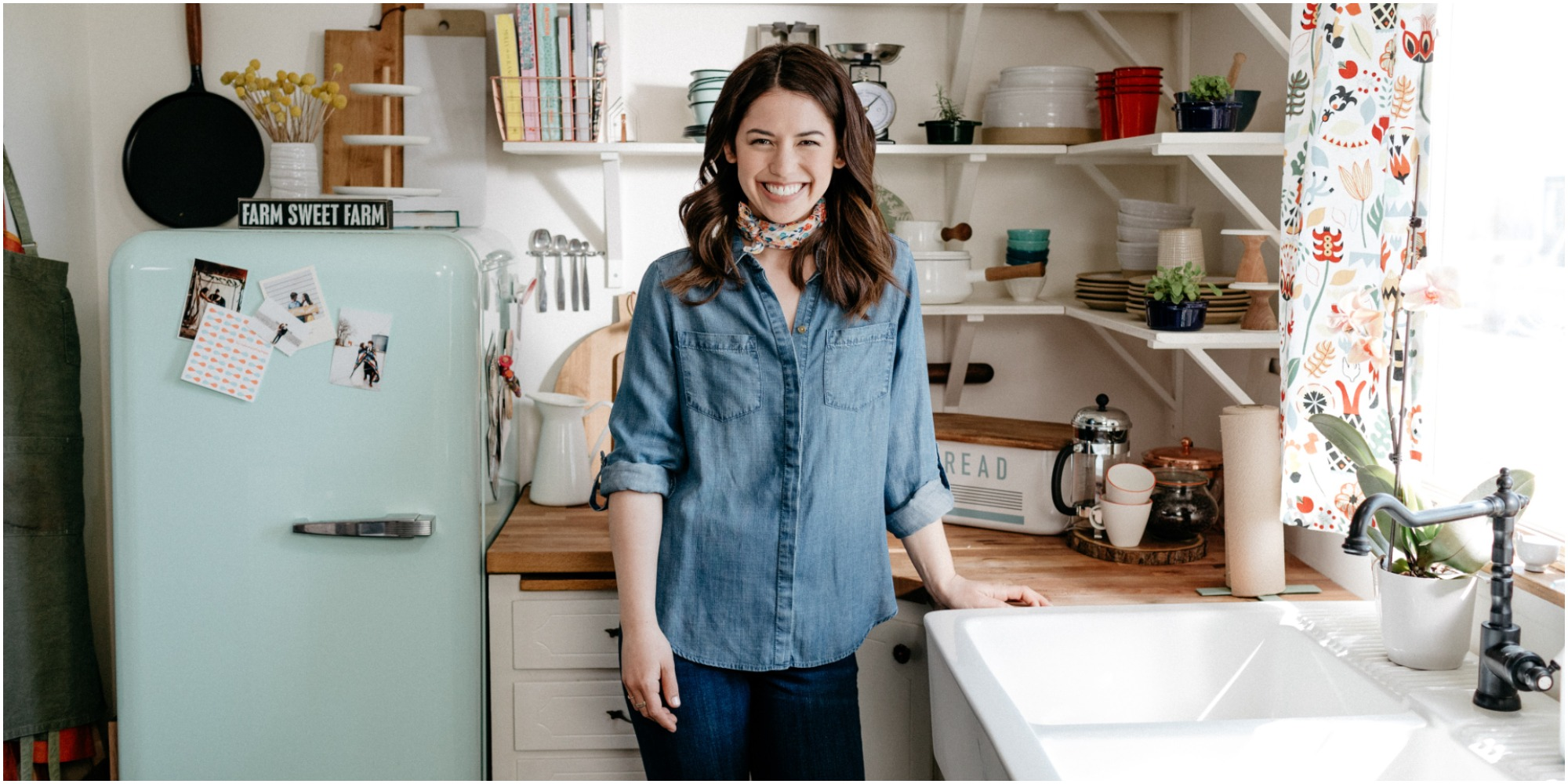 """Molly Yeh plays on Food Network """"Girl meets the farm"""" where she created an unforgettable popcorn salad."""