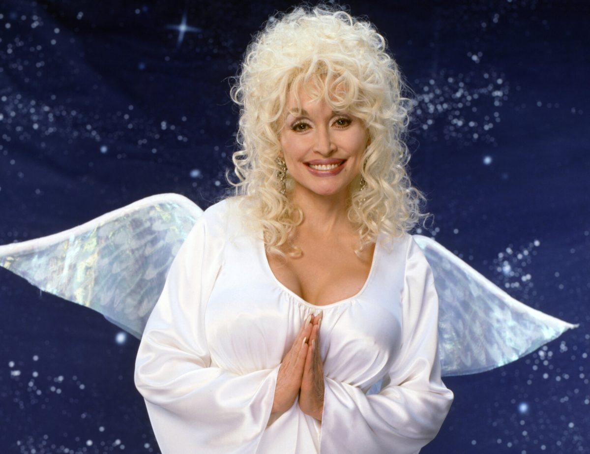 Dolly Parton as Ruby Diamond on 'Unlikely Angel,' a made for television movie, originally broadcast December 17, 1996.