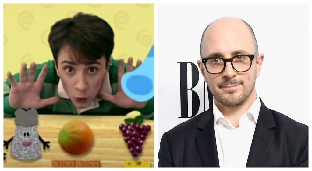 Steve Burns now and then