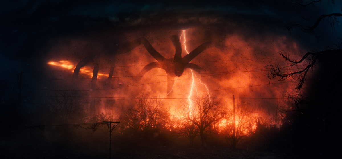 A shot of the Mind Flayer from 'Stranger Things' Season 2.