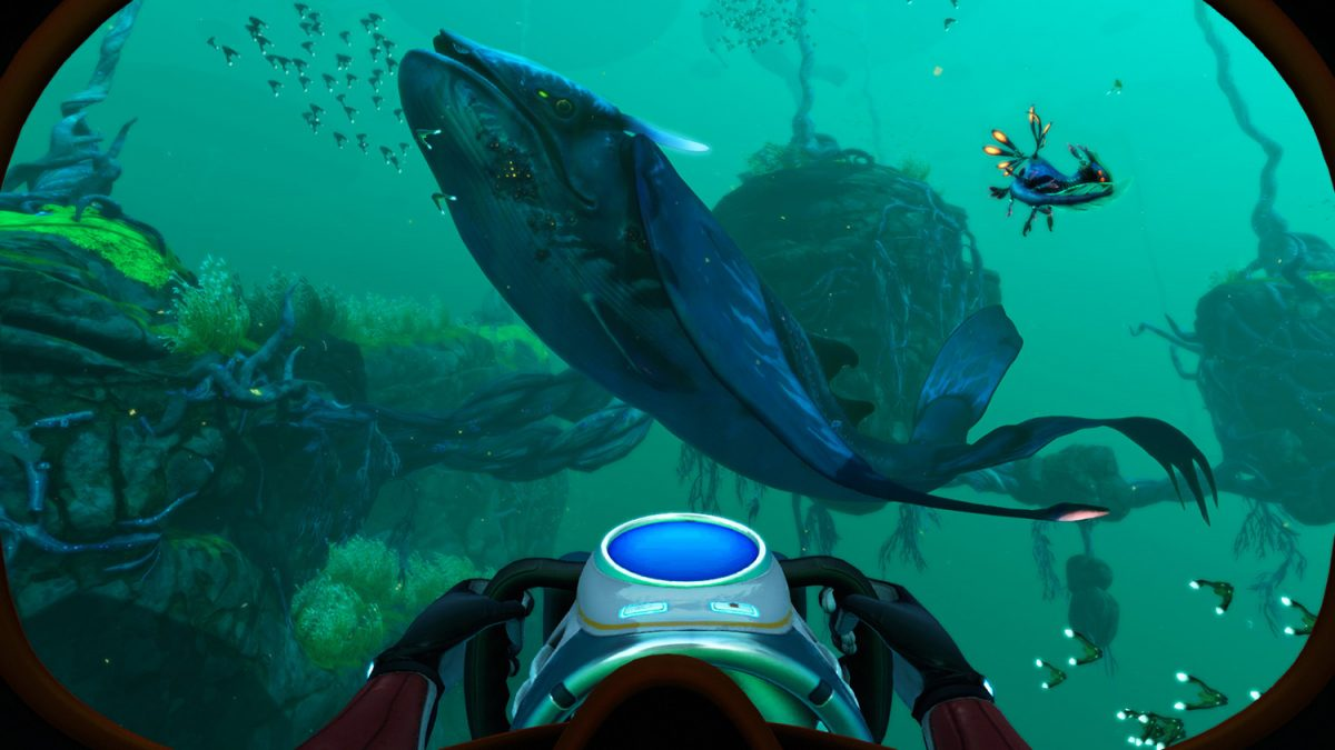 A whale creature in Subnautica: Below Zero, coming soon to Xbox Game Pass
