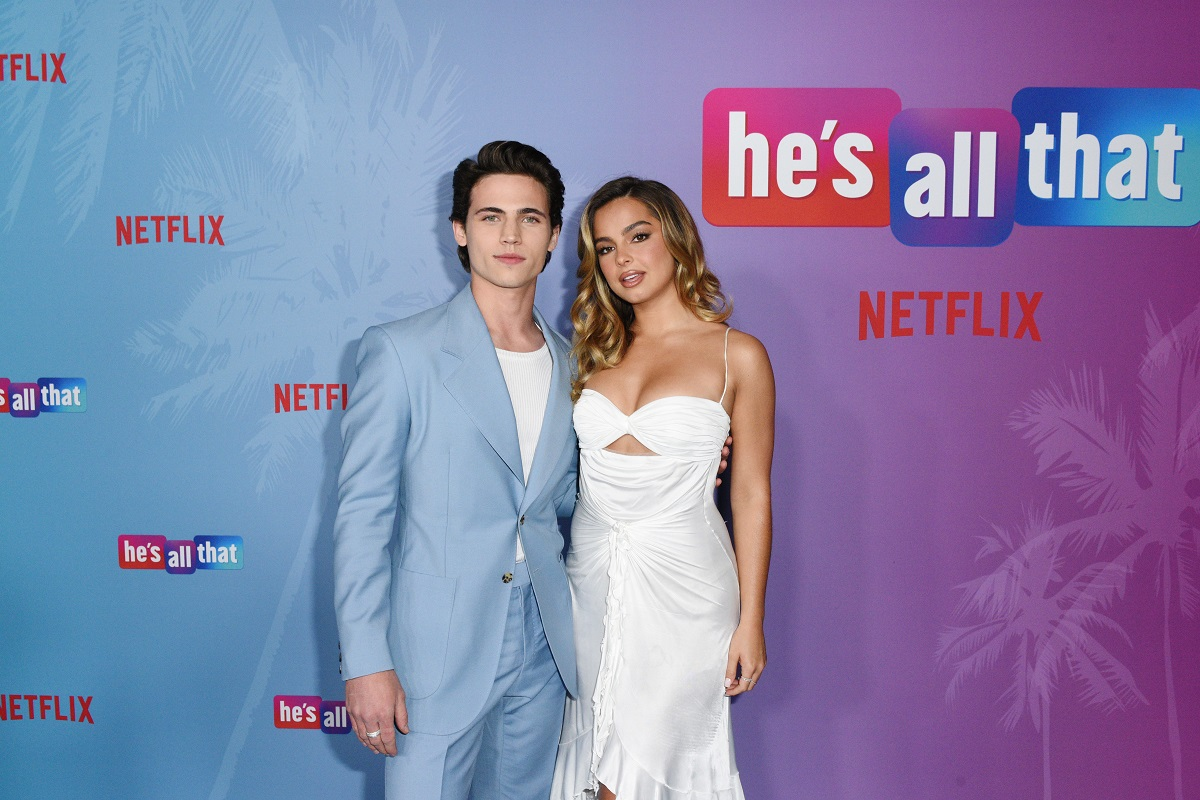 (L-R) Tanner Buchanan and Addison Rae attend 'He's All That' Special Screening at NeueHouse Los Angeles on August 25, 2021, in Hollywood, California.