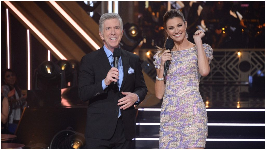 """Erin Andrews parlayed her success as a performer on """"Dancing With the Stars"""" to a hosting gig with Tom Bergeron."""