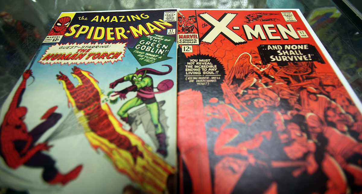 Spider Man and X-Men Marvel vintage comic books