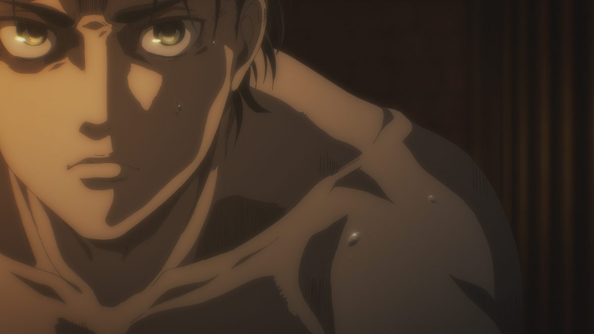Eren Jaeger in 'Attack on Titan' Season 4A, which sets the stage for 4B. The final episodes will decide the characters' fates, including 'Attack on Titan' fan-favorite Levi Ackerman.