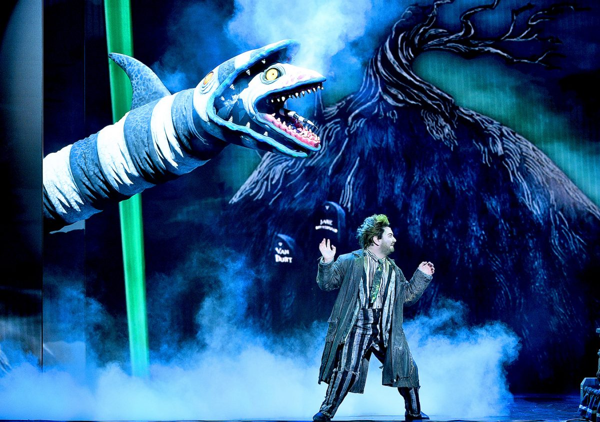 Alex Brightman and the cast of 'Beetlejuice' perform on stage during the 2019 Tony Awards