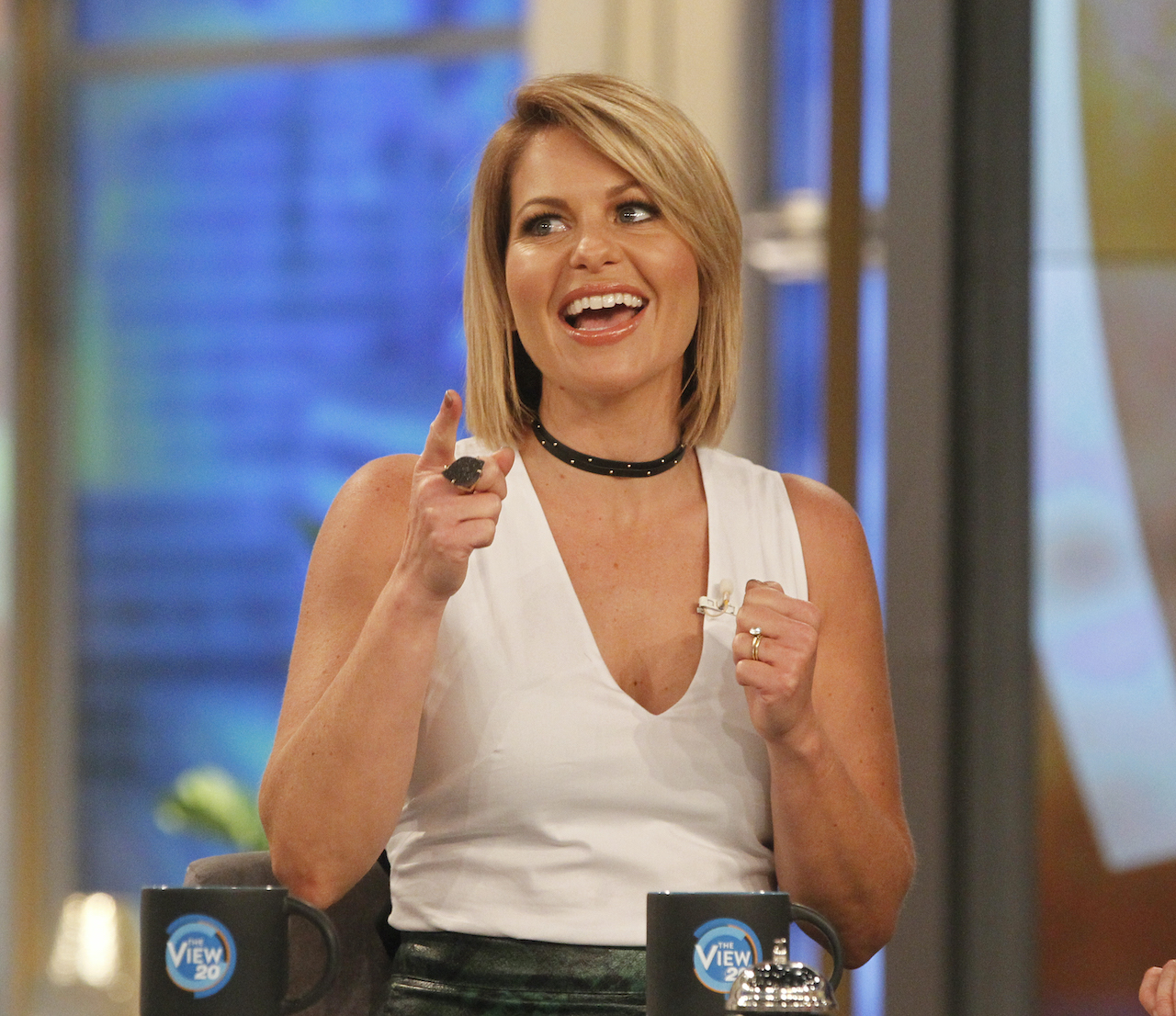 Candace Cameron Bure on the set of 'The View'