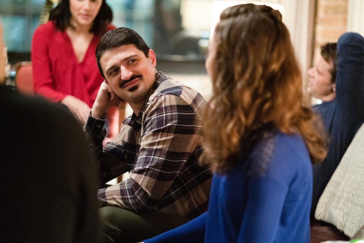 Brian 'Otis' Zvonecek turned and talking to a woman in 'Chicago Fire.' 'Chicago Fire' Season 10 Episode 5 may bring Otis back into the conversation for episode 200