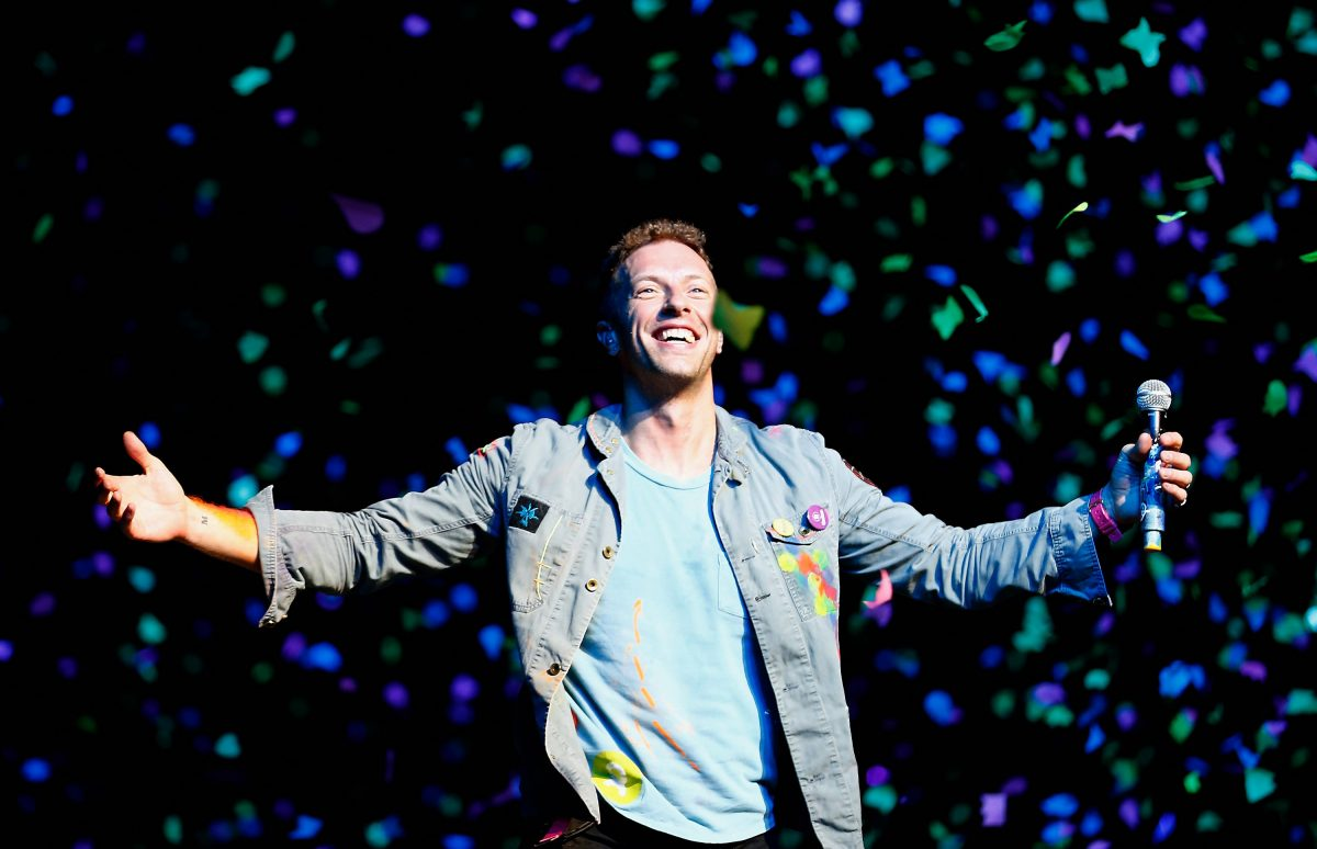 Chris Martin of Coldplay performs for fans in Auckland, New Zealand