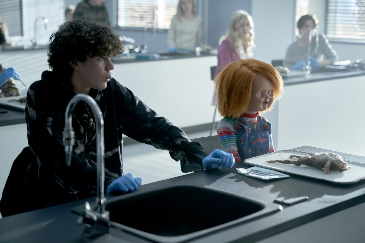 Chucky sits with Zackary Arthur in science class