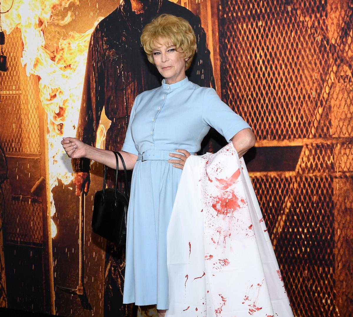 Jamie Lee Curtis of 'Halloween Kills' in blue dress