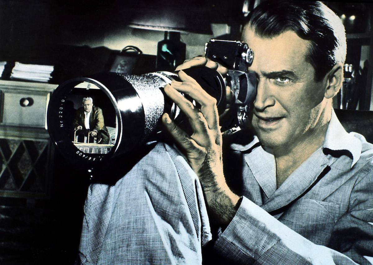 James Stewart in scary movie 'Rear Window'