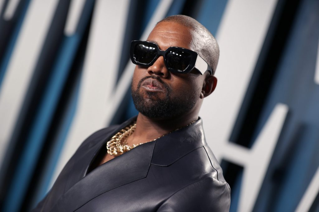 Kanye West attends the 2020 Vanity Fair Oscar Party hosted by Radhika Jones at Wallis Annenberg Center for the Performing Arts