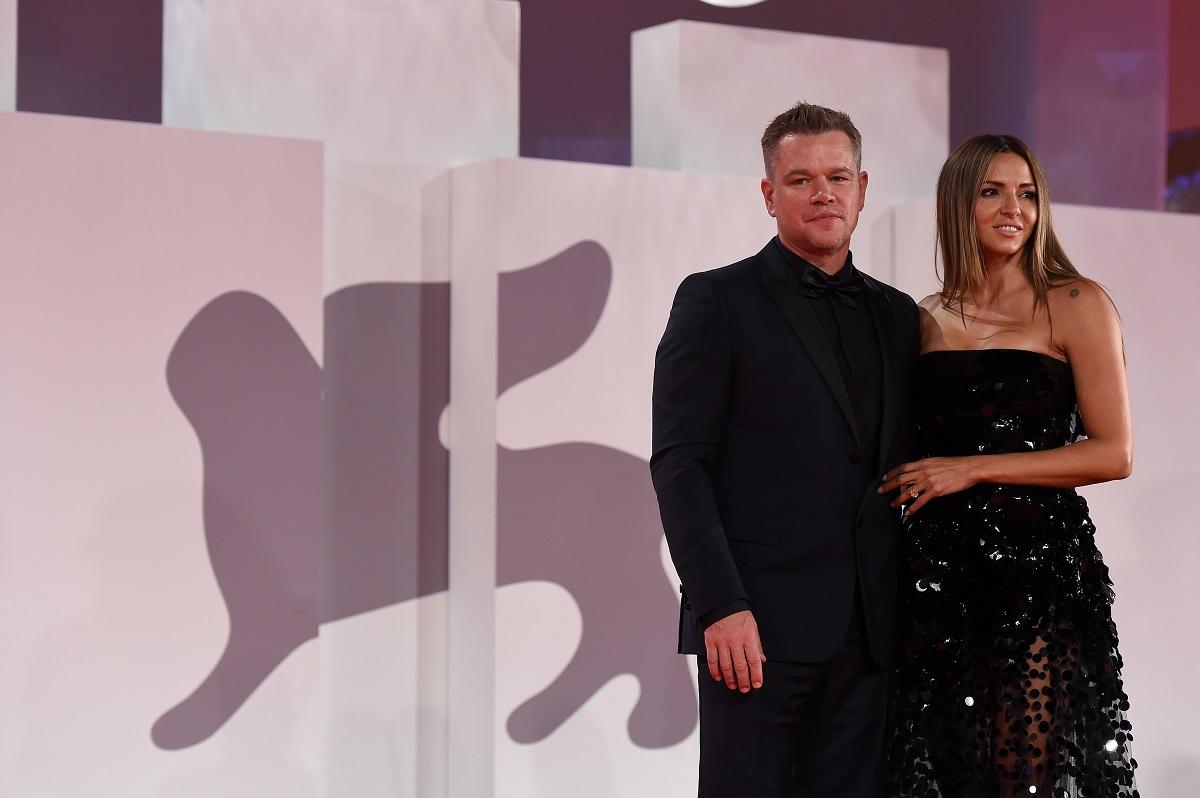 Matt Damon with wife Lucy Damon