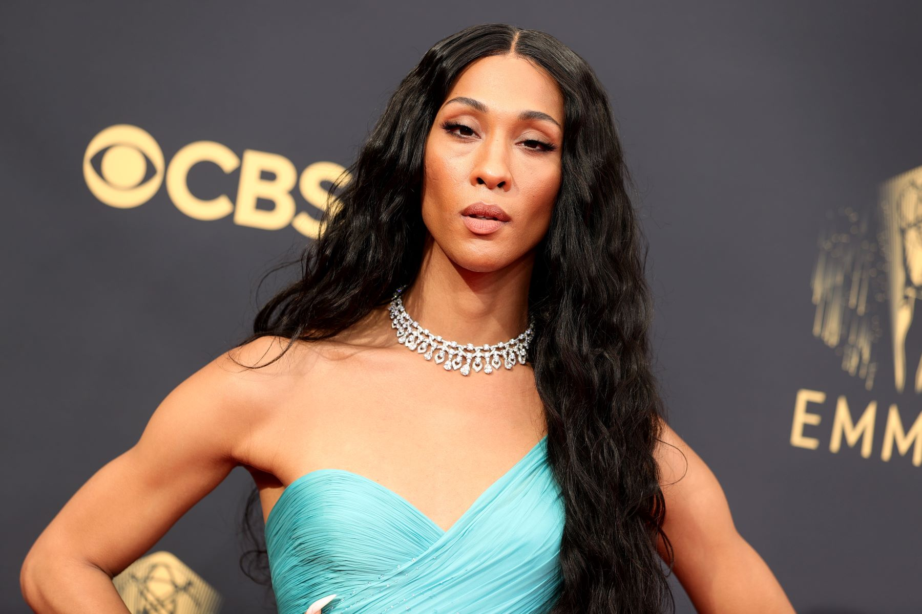Mj Rodriguez attending the 73rd Primetime Emmy Awards in Los Angeles, California