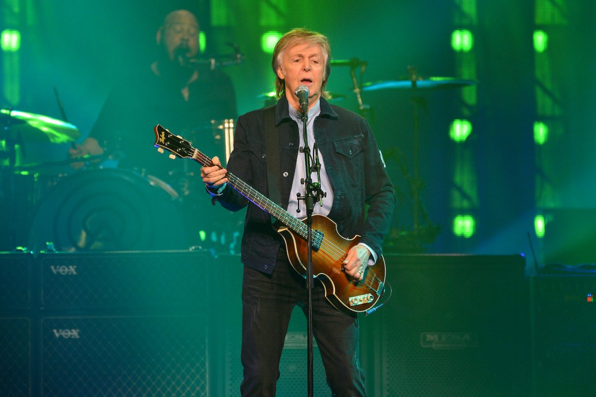 Paul McCartney performing at the O2 Arena in 2018.