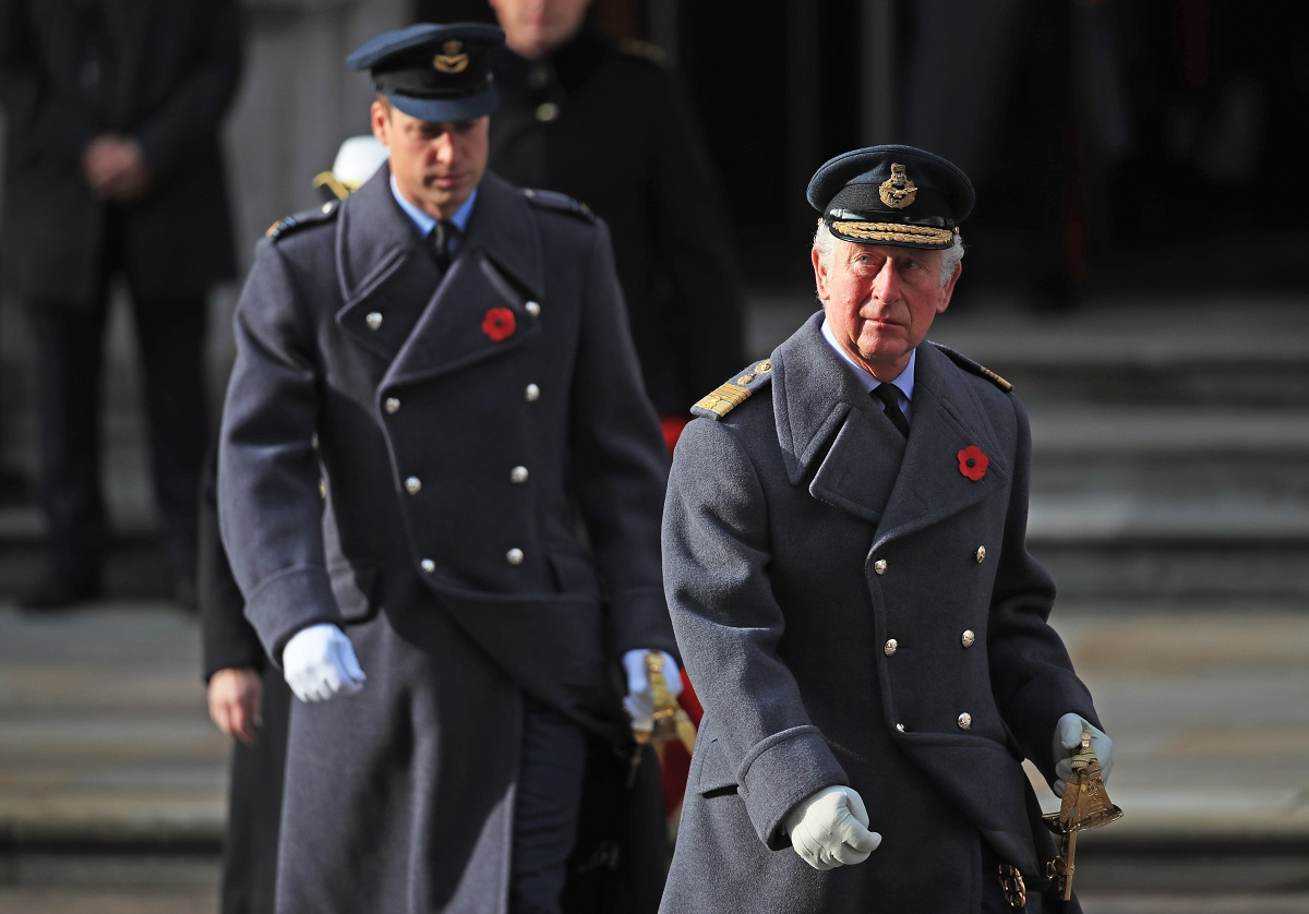 Prince Charles and Prince William attending a National Service of Remembrance together