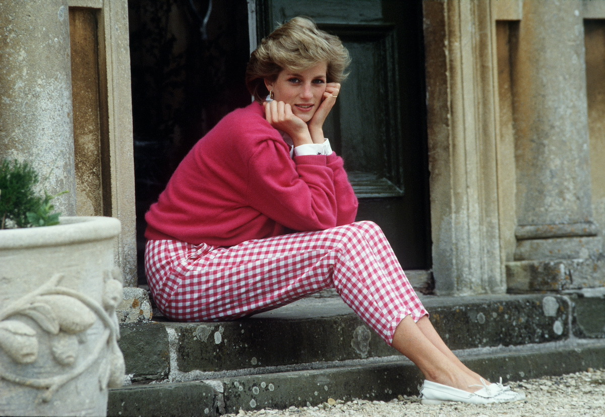 Princess Diana family members remember the beloved Princess of Wales, pictured here, sitting on a stoop