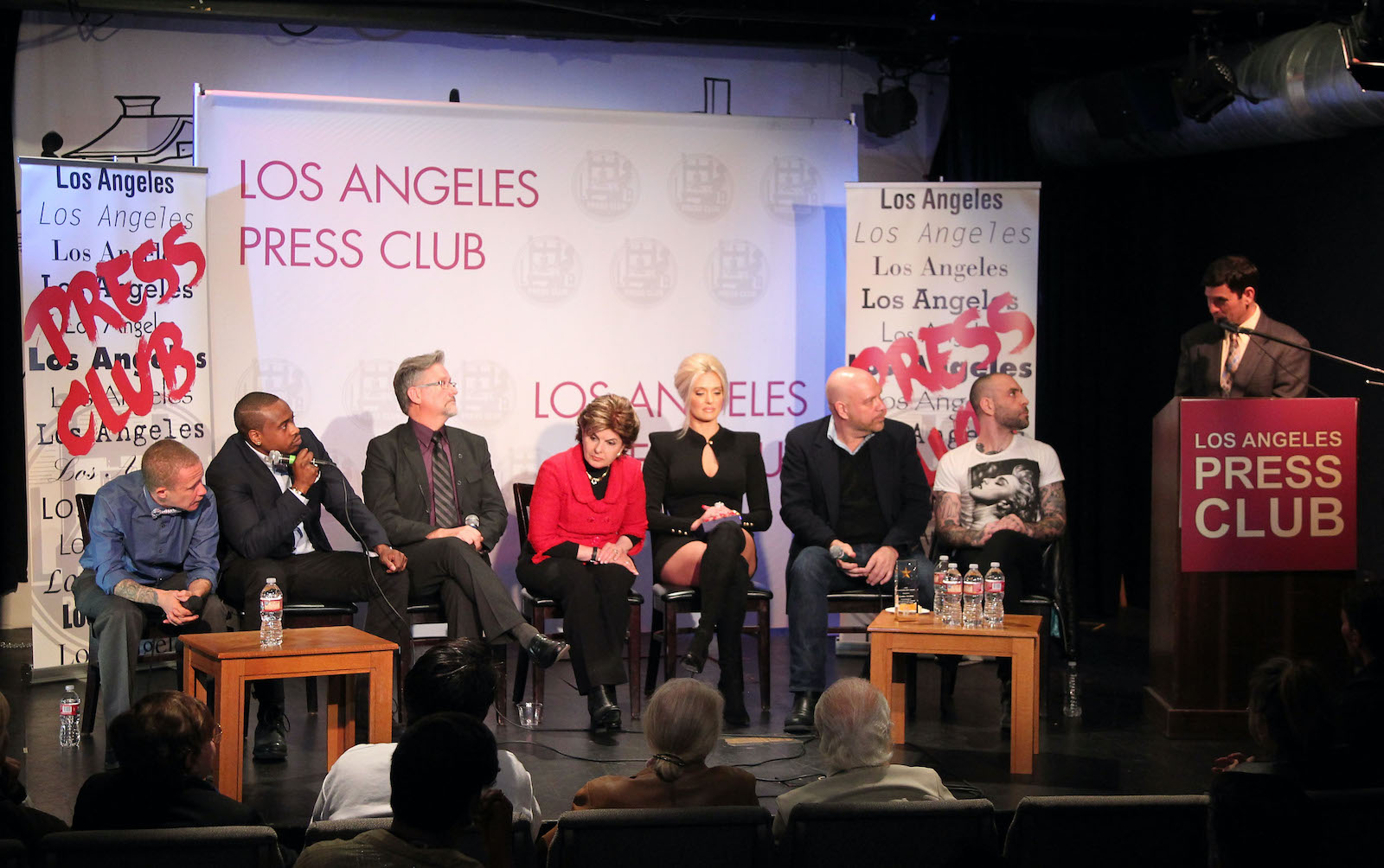 The Tom Girardi case shocked Gloria Allred. She's seen here with Erika Jayne honoring by LGBTs In The News at Los Angeles Press Club in 2015