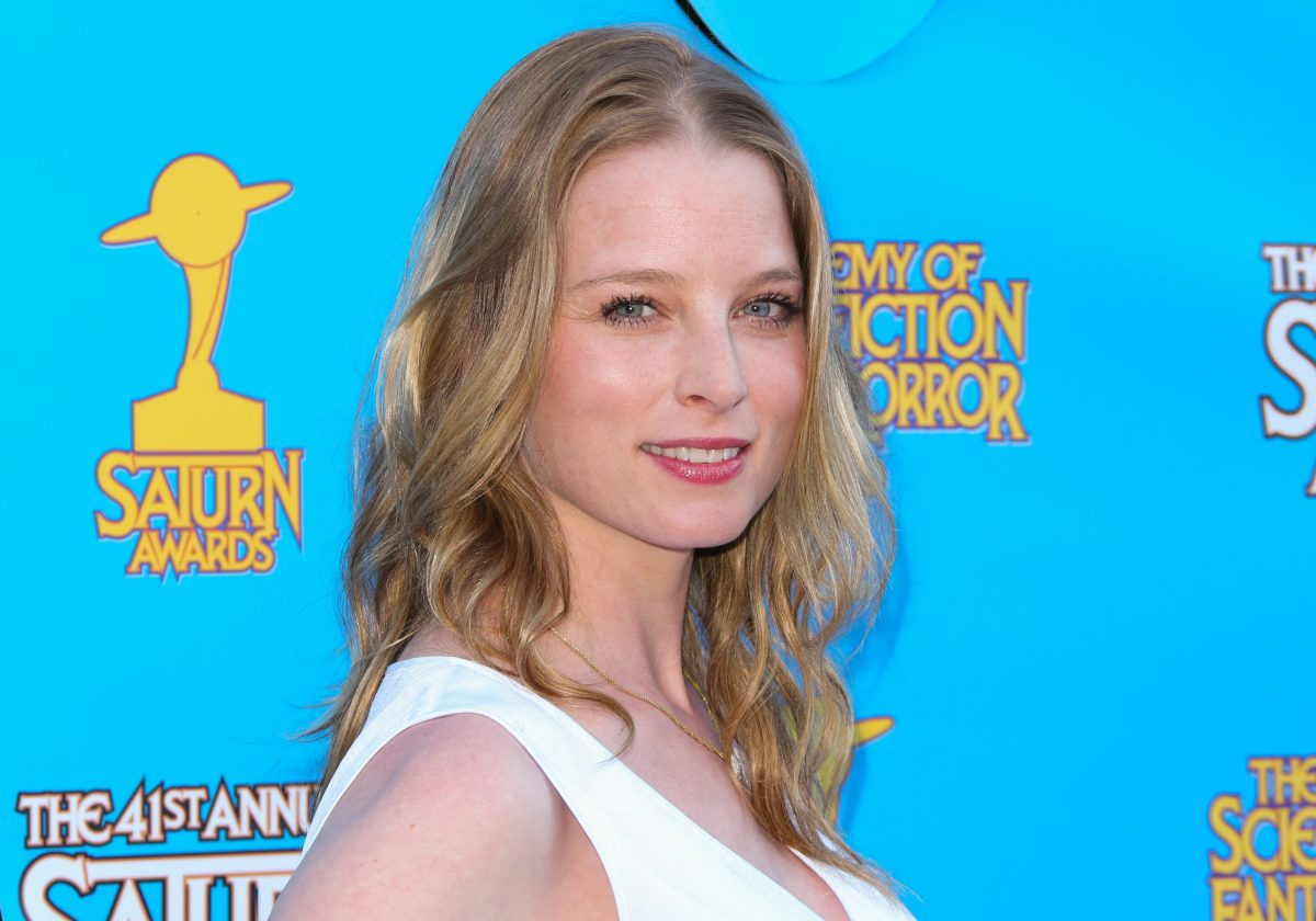 Actor Rachel Nichols smiling for photographers at the 41st Annual Saturn Awards