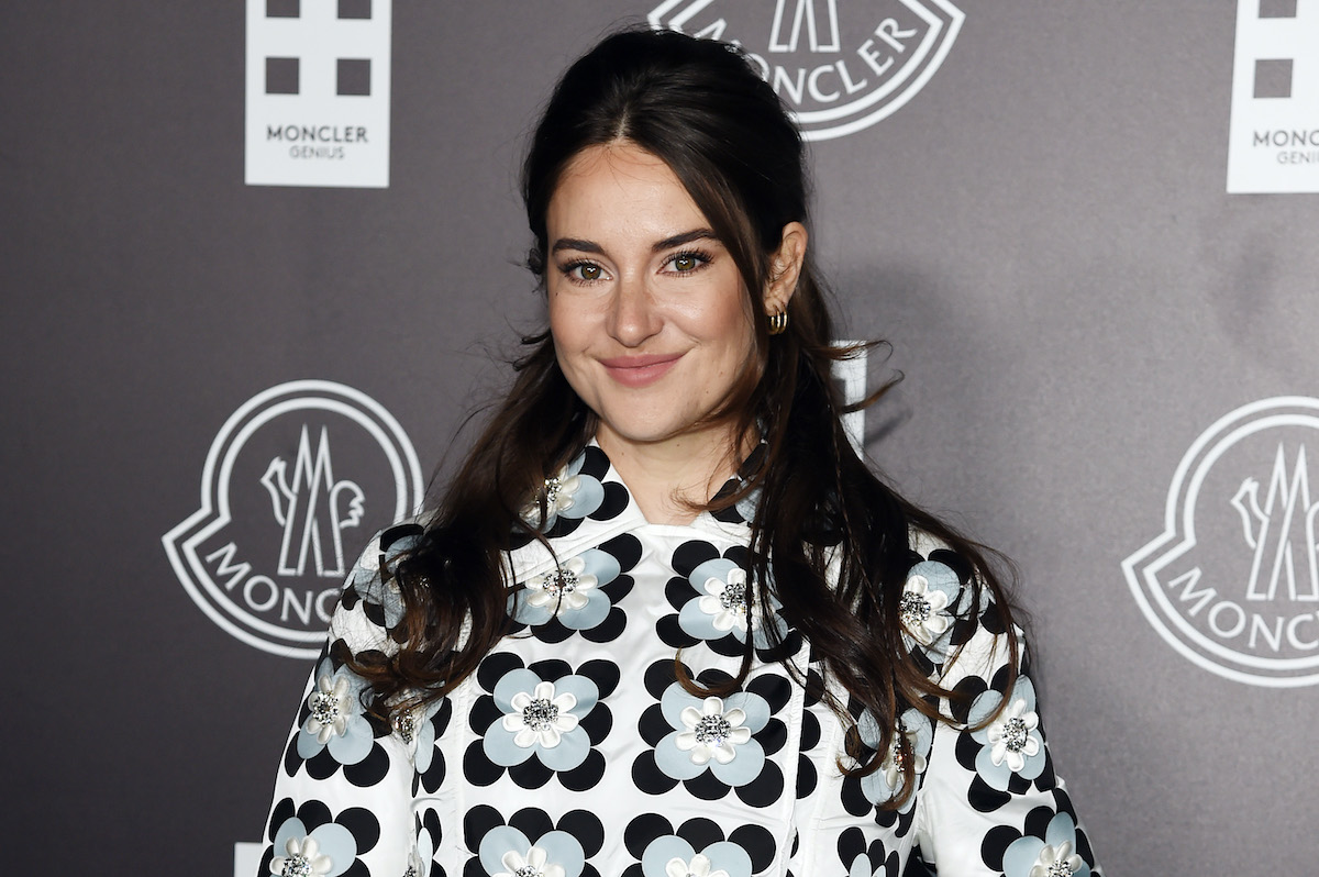 Divergent alum Shailene Woodley in a black and white outfit