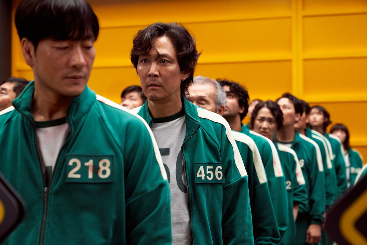 The 'Squid Game' contestants wear turquoise tracksuits like in this production and could be an easy Halloween costume.