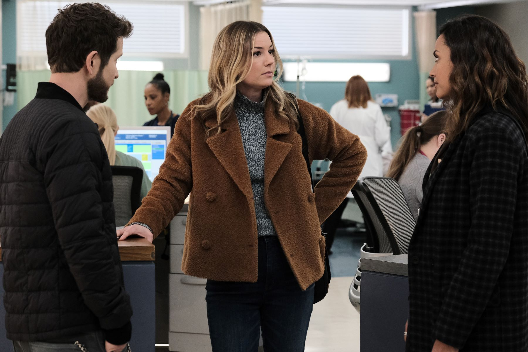 Emily VanCamp in the episode 'First Days, Last Days' episode of 'The Resident' on Fox