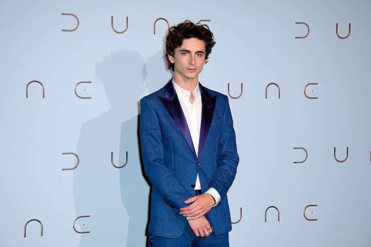 Timothée Chalamet of 'Don't Look Up' and 'Dune' in a blue suit
