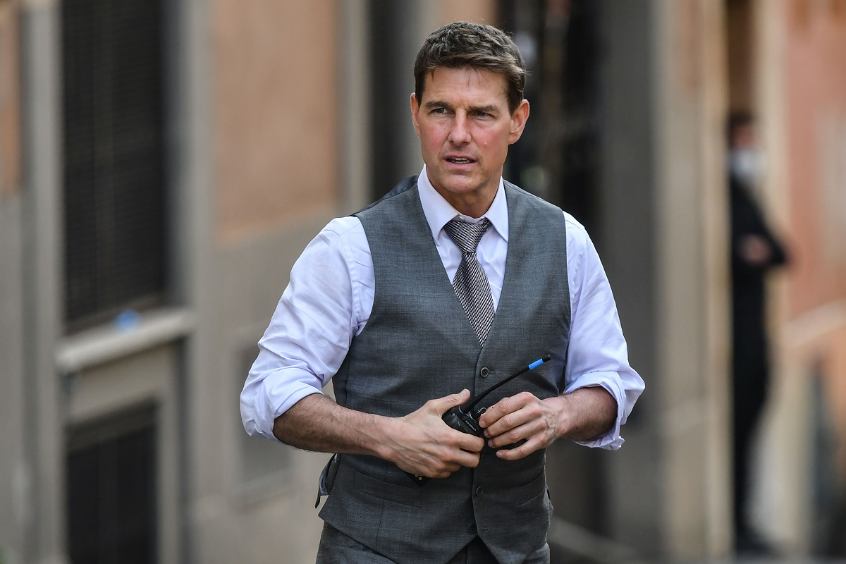 Tom Cruise wearing a suit
