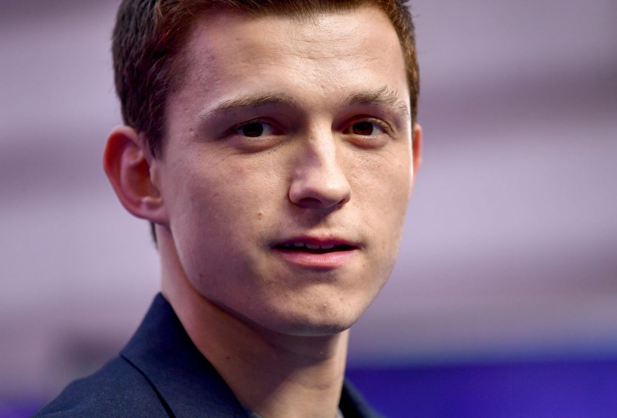'Spider-Man: No Way Home' star Tom Holland wears a blue suit.