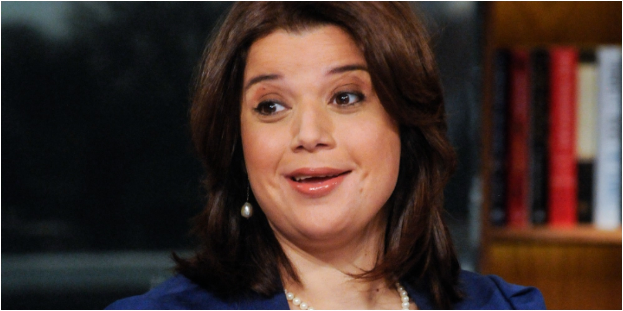 Ana Navarro is photographed as part of a panel discussion.