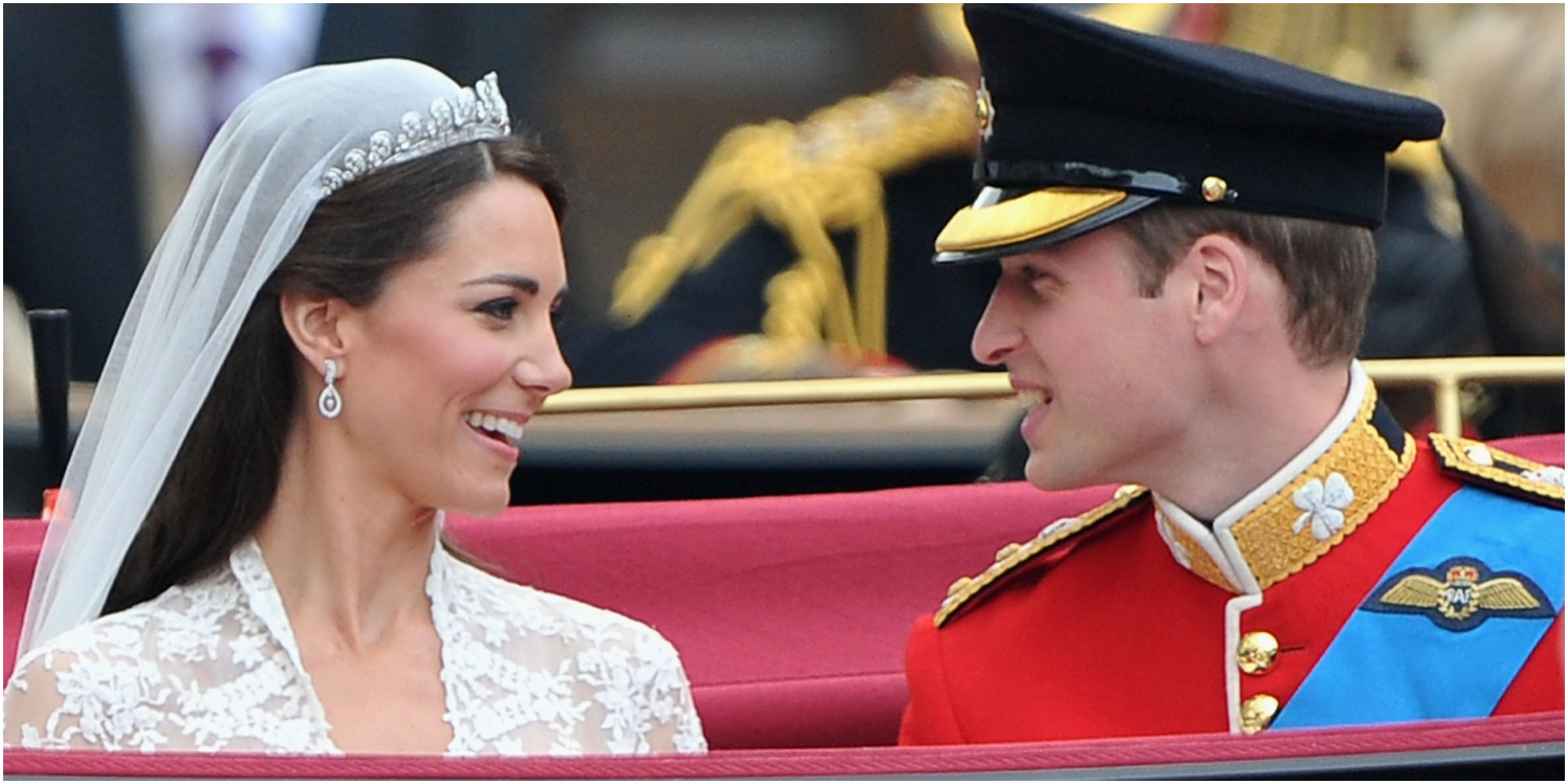 Kate Middleton and Prince William on their 2011 wedding day.