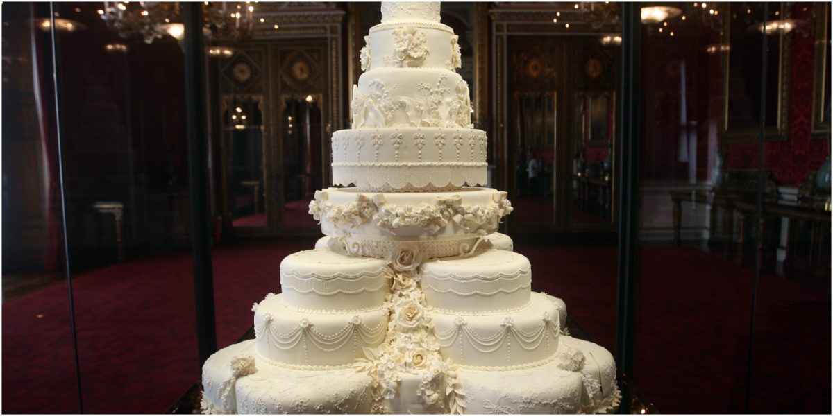 Prince William and Kate Middleton's wedding cake was a three-foot tall fruit cake confection.